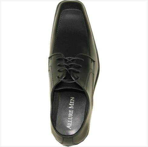 Black Matte Leather Shoe Top View