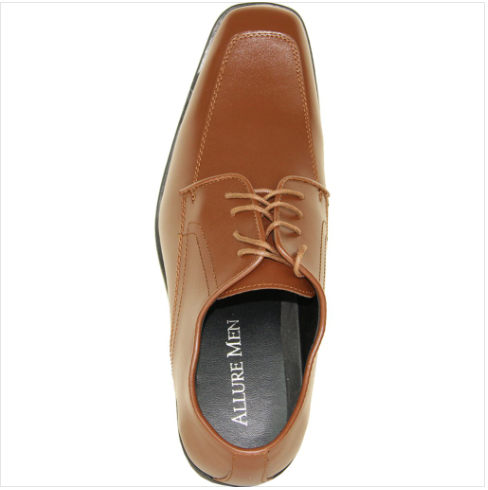 Brown Matte Leather Shoe Top View