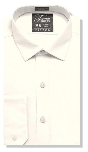 Formal Ivory Laydown Shirt No Pleats