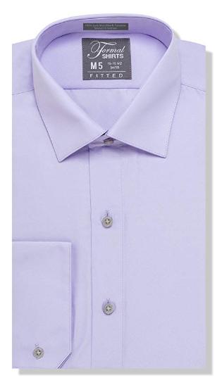 Formal Lavender Laydown Shirt No Pleats