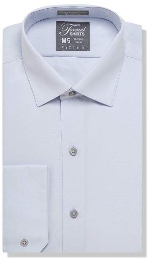 Formal Light Grey Laydown Shirt No Pleats