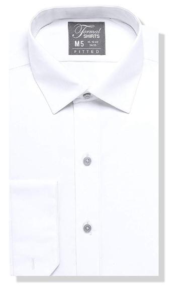 Formal White Laydown Shirt No Pleats