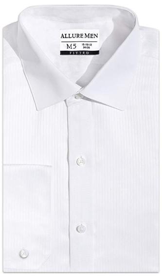 Formal White Laydown Shirt Swiss Pleats