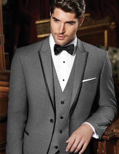 Ike Behar Grey Oscar Tuxedo