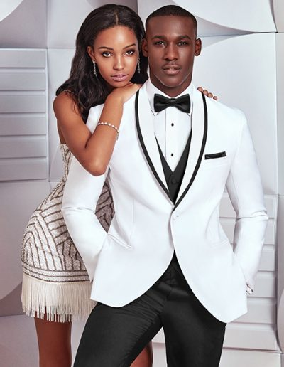 Ike Behar White Waverly Tuxedo