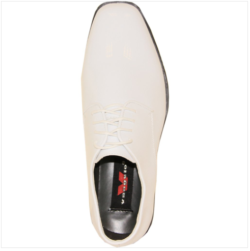 White Patent Leather Shoe Top View