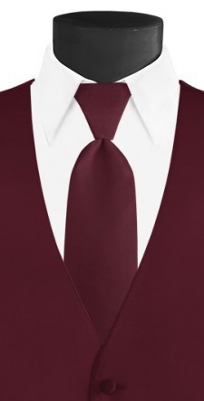 Wine Long Tie