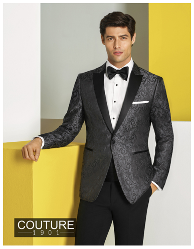 Couture 1901 Charcoal Chase Paisley Tuxedo