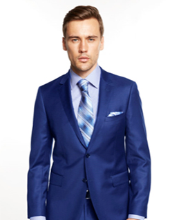 David Major French Blue Suit