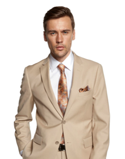 David Major Tan Suit