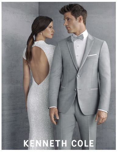 Kenneth Cole Heather Grey Lenox Tuxedo