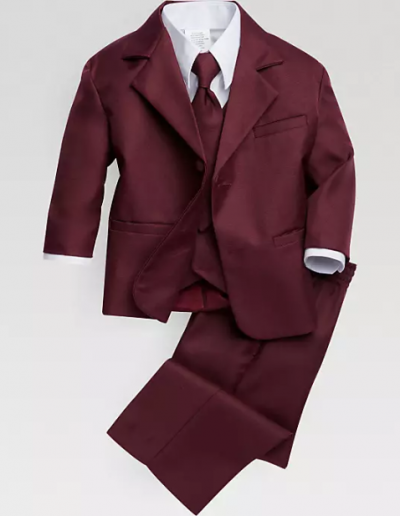 Peanut Butter Burgundy Suit