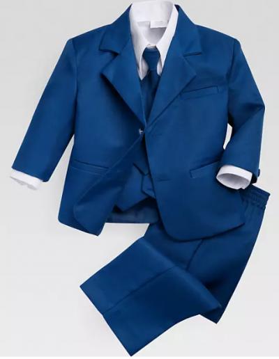 Peanut Butter Cobalt Suit