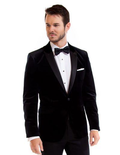 Luxor Velvet Black Jacket at Rex Formal Wear, San Antonio, Texas