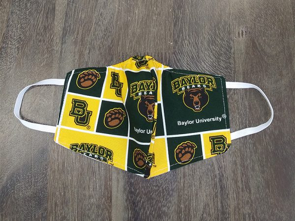 Baylor University Adult Face Masks found at Rex Formal Wear, San Antonio, Texas
