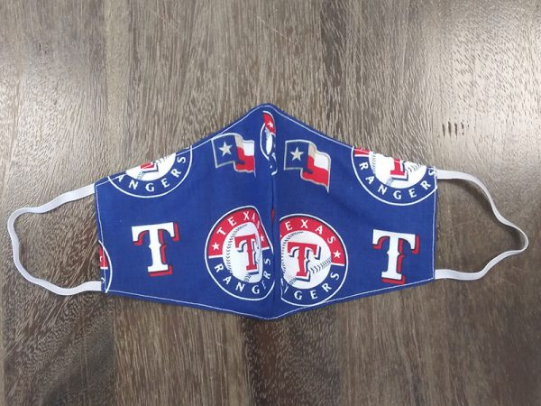 MLB Texas Rangers - Adult Face Masks found at Rex Formal Wear, San Antonio, Texas