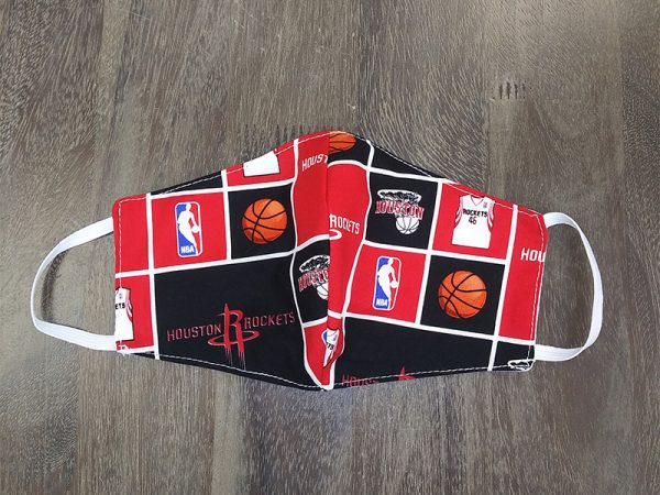 NBA Rockets Adult Face Masks found at Rex Formal Wear, San Antonio, Texas