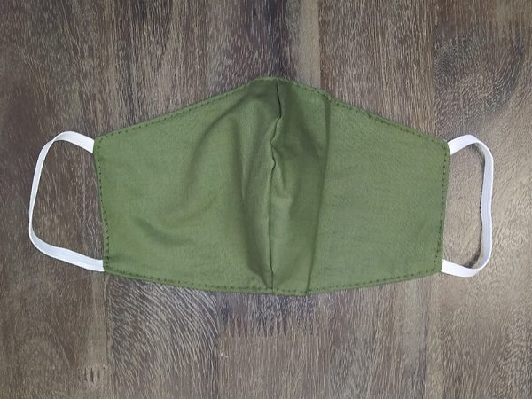 Olive Green Solid Adult Face Masks found at Rex Formal Wear, San Antonio, Texas