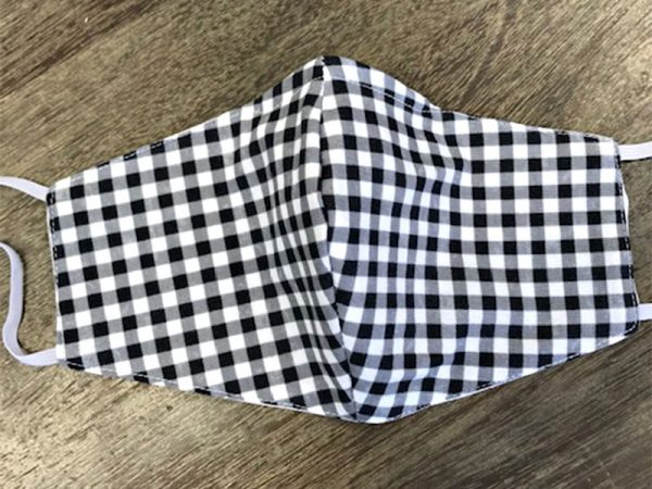 Black & White Checks - Adult Face Masks found at Rex Formal Wear, San Antonio, Texas