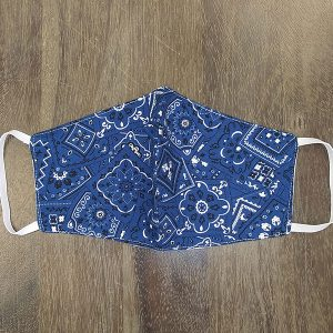 Blue Paisley Adult Face Masks found at Rex Formal Wear, San Antonio, Texas