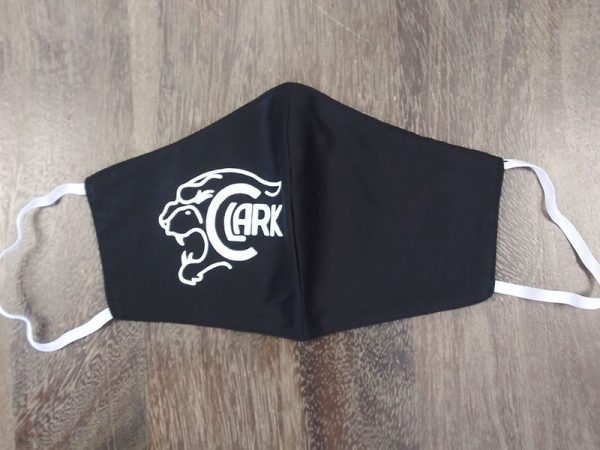 High School Logo Masks - Clark High School - Made by Rex Formalwear, San Antonio, Texas
