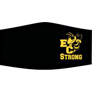 High School Logo Masks - EC Strong - Made by Rex Formalwear, San Antonio, Texas
