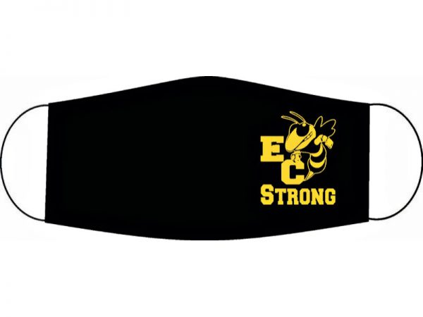 High School Logo Masks - EC Strong - Made by Rex Formalwear, San Antonio, Texas