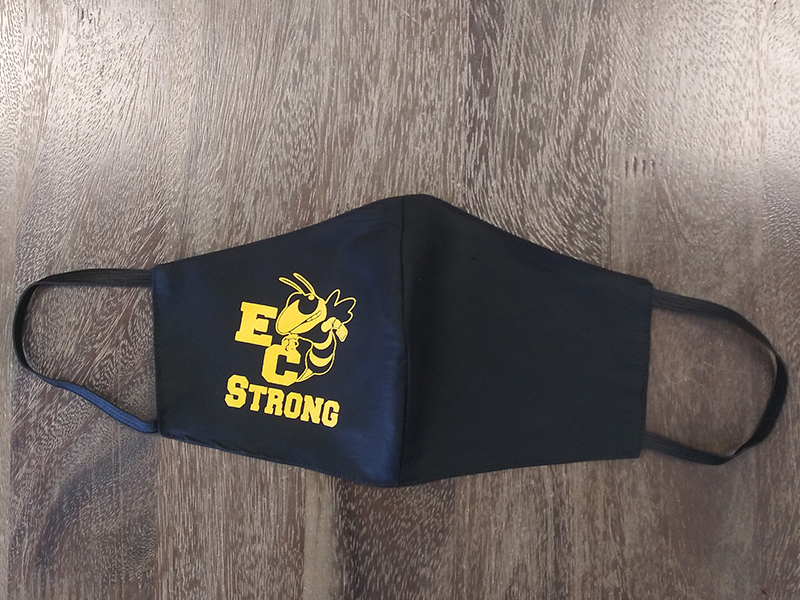 High School Logo Masks - East Central Strong - Made by Rex Formalwear, San Antonio, Texas