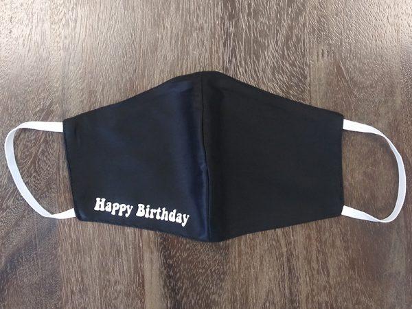 Happy Birthday Adult Face Masks found at Rex Formal Wear, San Antonio, Texas