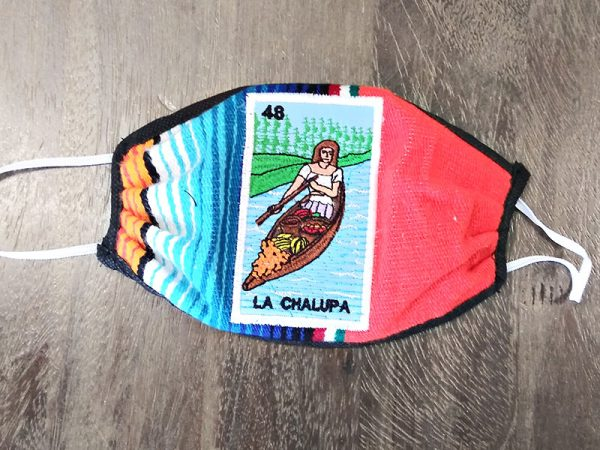 Mexican Print La Chalupa - Adult Face Masks found at Rex Formal Wear, San Antonio, Texas