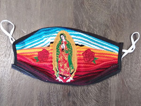 Mexican Print Saint - Adult Face Masks found at Rex Formal Wear, San Antonio, Texas