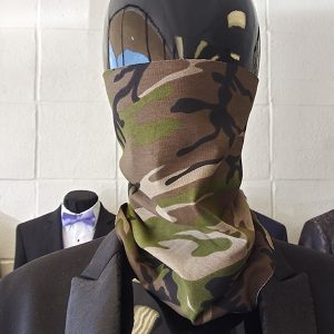 Camo Adult Neck Gaiter found at Rex Formal Wear, San Antonio, Texas