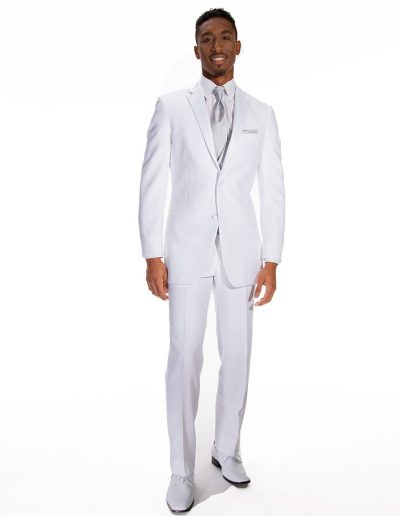 Allure Men White- Providence 2 Btn Notch - Available at Rex Formal Wear, San Antonio, Texas