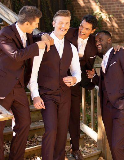 David Major Burgundy Suit - Available at Rex Formal Wear, San Antonio, Texas