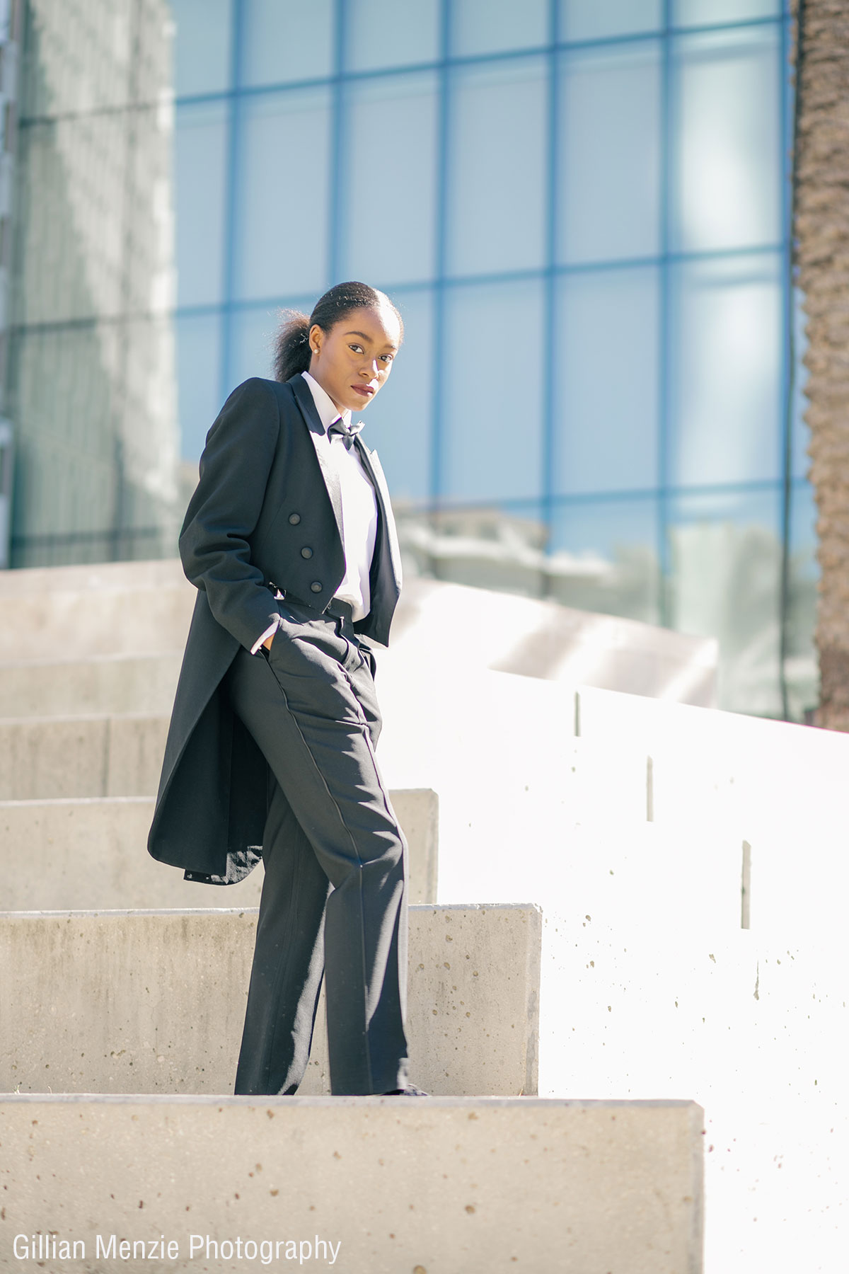 Ladies Tuxedo Shoot for Black History Month featuring Ladies Tuxedos from Rex Formal Wear